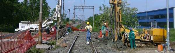 Cantiere RFI potenziamento rete ferroviaria