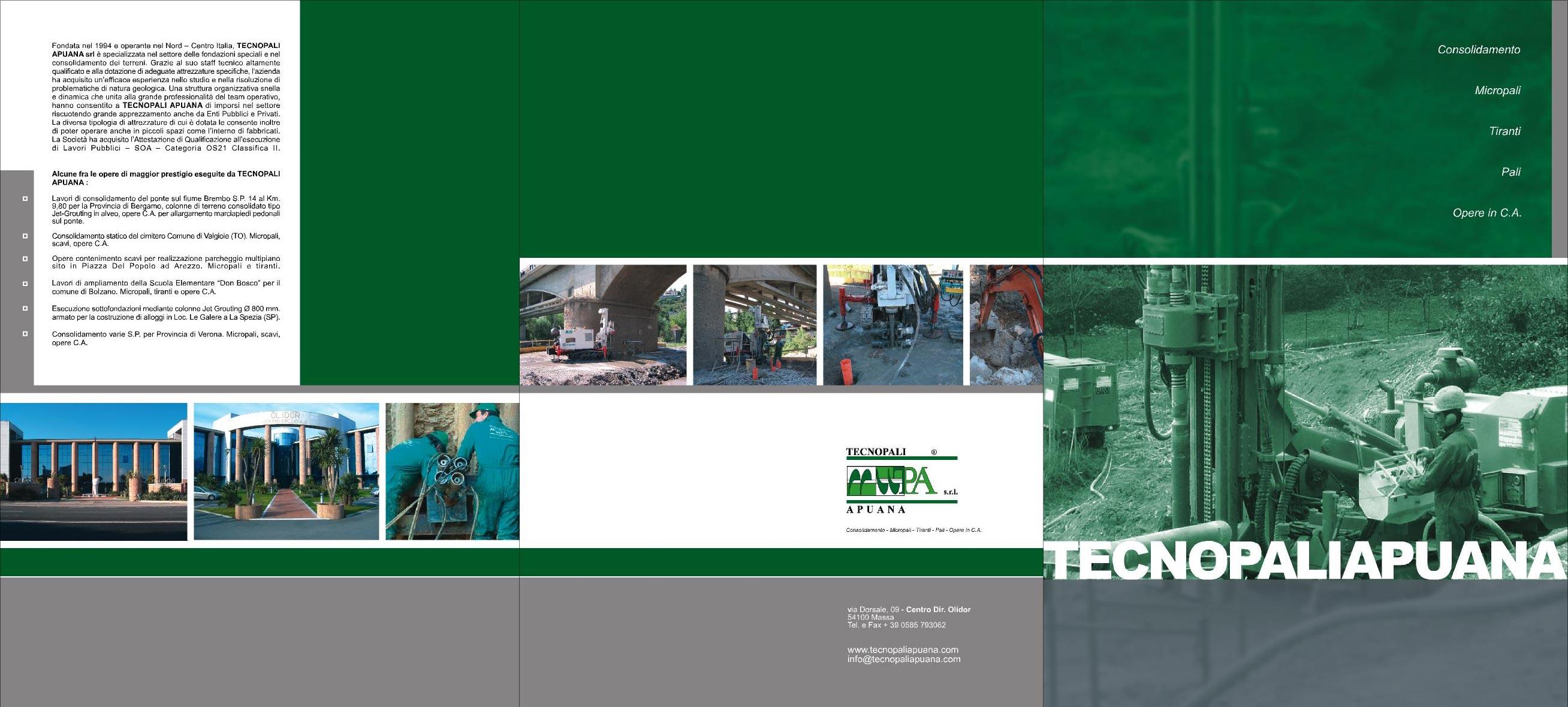 Depliant Tecnopali Apuana 2007 - Fronte