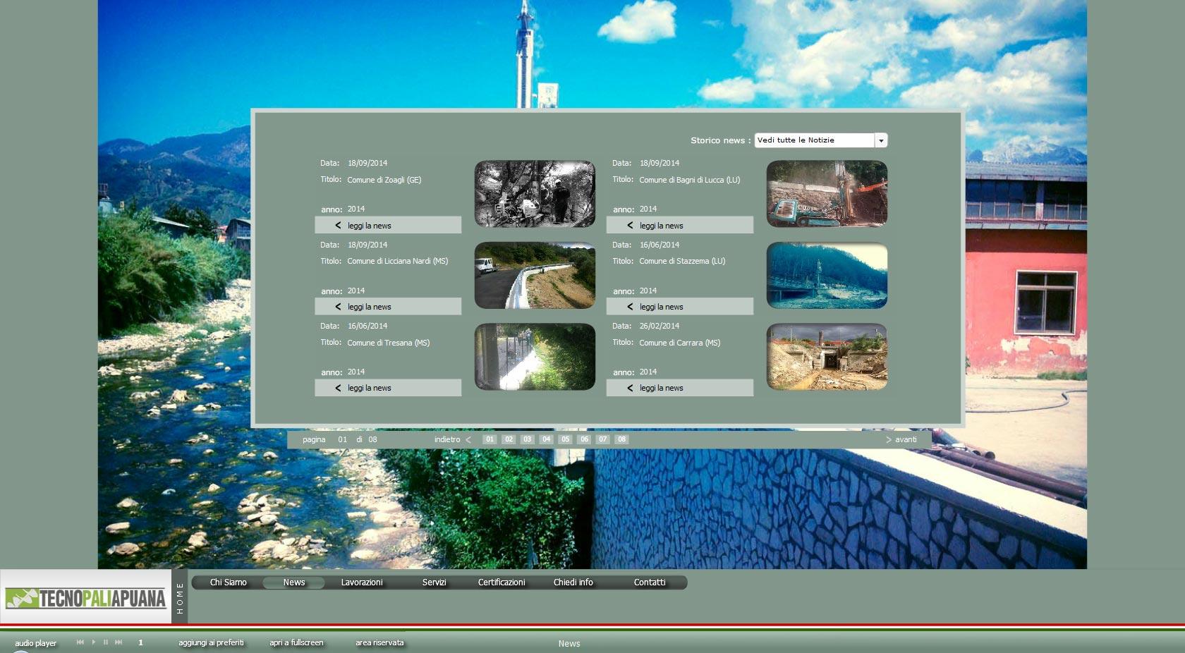 Tecnopali Apuana Website 2011